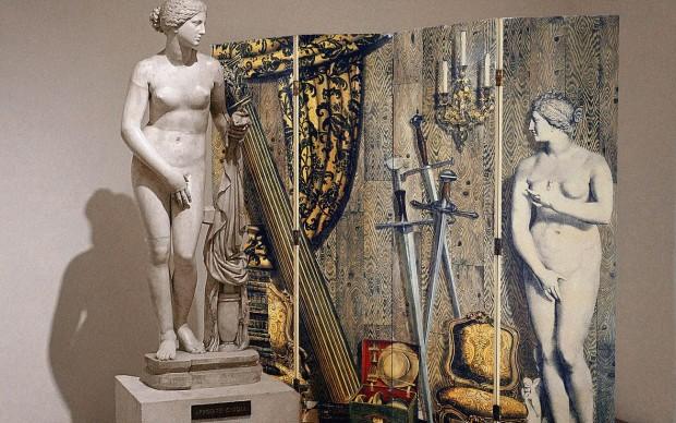 """Fornasetti, Paravento """"Angolo antico con Eva"""", Museo Nazionale Romano - Palazzo Altemps, Roma, 2017"""