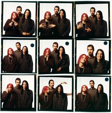 """Stampe a contatto presenti in """"Kurt Cobain 50: Il grunge nelle foto di Michael Lavine"""" presso ONO arte contemporanea, dicembre 2017, Bologna © Michael Lavine"""