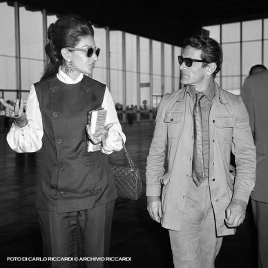 Pier Paolo Pasolini e Maria Callas all'aeroporto, 1970