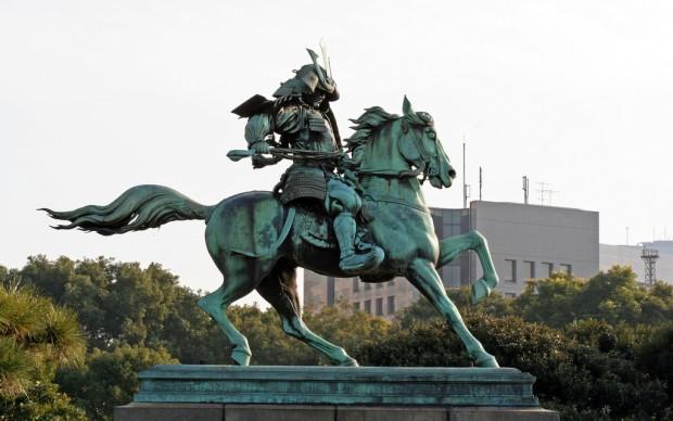 Ruth Hartnup, Samurai horseman near Imperial Palace, Tokyo