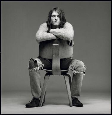 """Uno scatto presente in """"Kurt Cobain 50: Il grunge nelle foto di Michael Lavine"""" presso ONO arte contemporanea, dicembre 2017, Bologna © Michael Lavine"""
