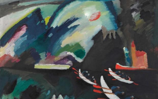 Vasilij Kandinskij, Lago. 1910. Olio su tela. 98 x 105. Mosca, Galleria Tret'jakovskaja