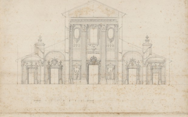 Francesco Borromini disegno architettura barocco