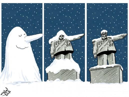 Osama Hajjaj (Giordania), Dictatore, Humour a Gallarate ‒ International Cartoon Contest, 2018