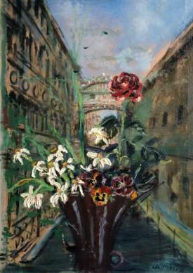 Filippo De Pisis, Mazzo di fiori a Venezia, 1930, olio su tela, 96 x 71 cm