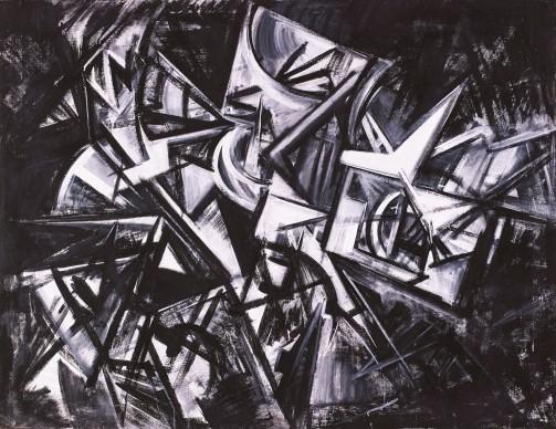 Emilio Vedova, Visione contemporanea, 1954, olio su tela, 130 x 170 cm
