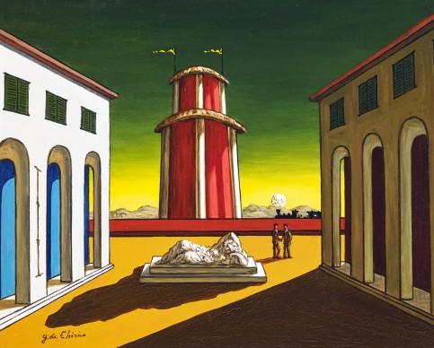 Giorgio De Chirico, Piazza d'Italia, 1930, olio su tela, 50 x 60 cm