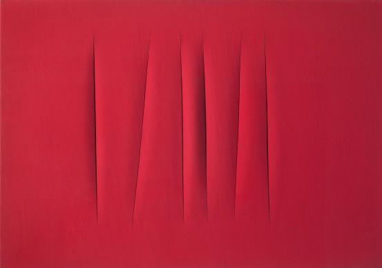Lucio Fontana, Concetto spaziale. Attese, 1964, olio su tela, 70 x 90 cm