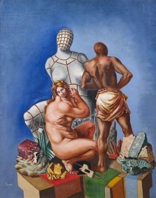 Alberto Savinio, Otello e Desdemona, 1928, olio su tela, 91 x 79 cm
