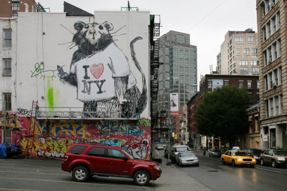 Banksy (b. date unknown). Untitled, Mural in New York. Courtesy of Ian Cox. Photo courtesy of Ian Cox
