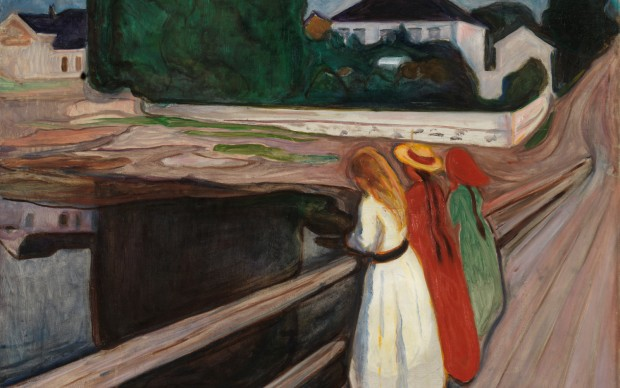 Edvard Munch, The Girls on the Bridge, photo by The National Museum - Børre Høstland