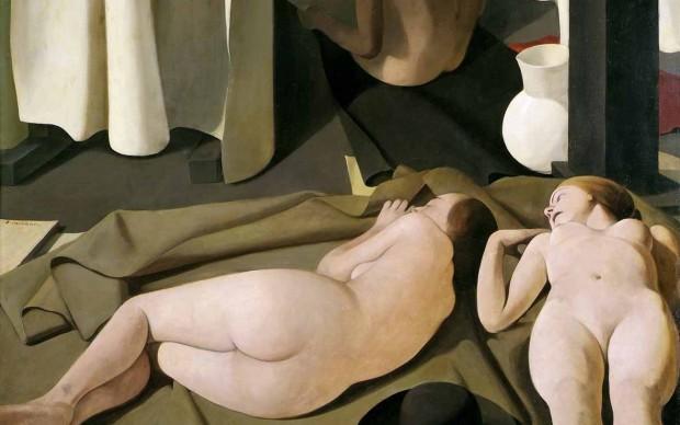 Felice Casorati, Meriggio, 1923, olio su tavola, 118x128 cm