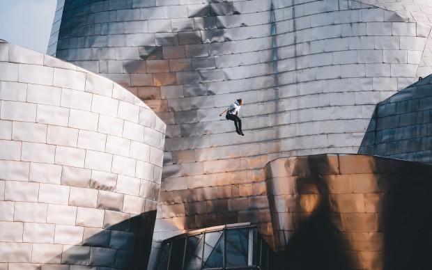 Folding Gravity Guggenheim Bilbao