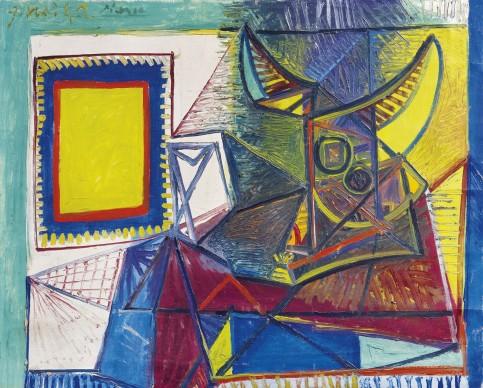 Pablo Picasso, Natura morta con testa di toro, 1942