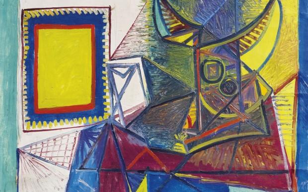 Pablo Picasso, Natura morta con testa di toro, 1942, olio su tela, 72 x 98 cm