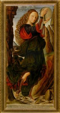 Giovanni Santi, Le muse. Erato, 1480-90 c. Galleria Corsini, Firenze, credits: Rabatti & Domingie Photography