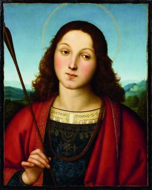 Raffaello Sanzio, San Sebastiano, 1502 –1503 c. Accademia Carrara, Bergamo, credits: Fondazione Accademia Carrara, Bergamo