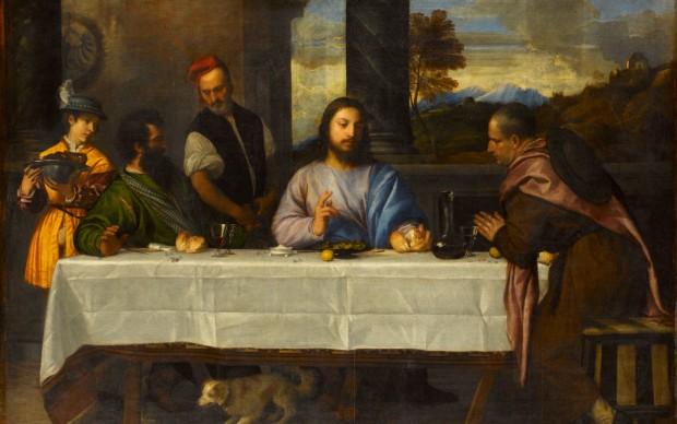 Tiziano Vecellio, La cena in Emmaus, c. 1530. Paris, Louvre Museum, Department of Paintings, inv. 746 Photo © RMN-Grand Palais (musée du Louvre) / Stéphane Maréchalle