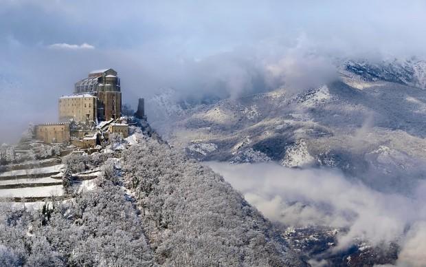Val di Susa Sacra_di_San_Michele_inverno Elio Pallard