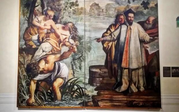 cartone preparatorio arazzo Maffeo-Barberini-bonifica-il-lago-Trasimeno