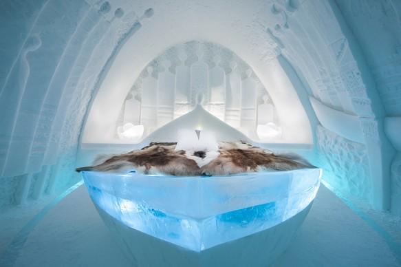 ICEHOTEL 28, 2017-2018 Art Suite Daily Travellers. Design Alem Teklu & Anne Karin Krogevoll. Photo Asaf Kliger. © ICEHOTEL. www.icehotel.com