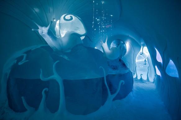 ICEHOTEL 28, 2017-2018 Art Suite Ground Rules. Design Carl Wellander & Ulrika Tallving. Photo Asaf Kliger. © ICEHOTEL. www.icehotel.com