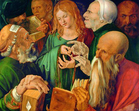 Albrecht Dürer, Gesù fra i dottori, 1506, Madrid, Museo Thyssen-Bornemisza © 2018. Museo Thyssen-Bornemisza / Scala, Firenze