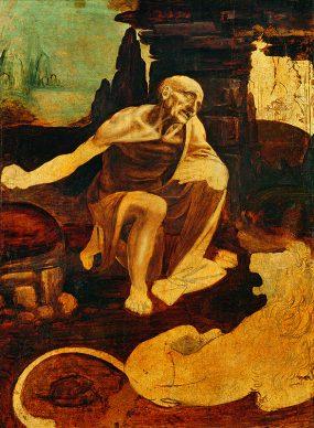 Leonardo da Vinci, San Girolamo nel deserto, 1490 ca., Pinacoteca Vaticana, Città del Vaticano Foto © Governatorato dello Stato della Città del Vaticano – Direzione dei Musei