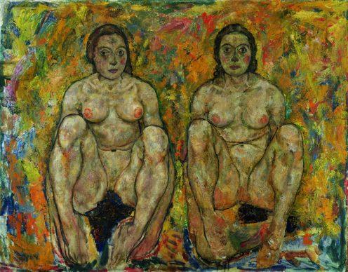 Egon Schiele, Two Squatting Women, unfinished, 1918 © Leopold Museum, Vienna
