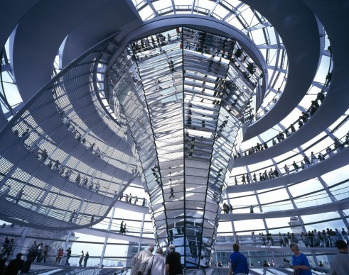 Foster + Partners, 1999 - Reichstag, New German Parliament, Berlin, Germany. Photo credit: Foster + Partners
