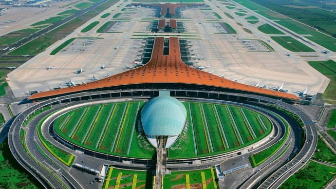 Foster + Partners, 2009 - Beijing Airport, China. Photo credit: Foster + Partners