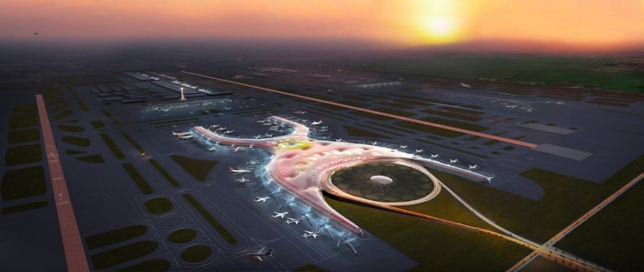 Foster + Partners, 2018 - Future project - New International Airport, Mexico City, Mexico. Photo credit: Foster + Partners