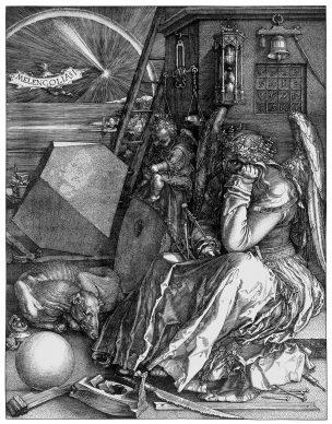 Albrecht Dürer, La Melancolia (Melencolia I), 1514, Londra, National Gallery - Courtesy Otto Schafer Stiftung der Stadt Schweinfurt