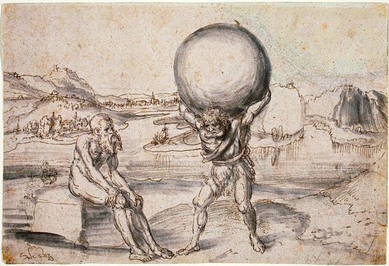 Lucas Cranach il Vecchio, Ercole sostituisce Atlante nel reggere il globo terrestre, 1530 ca., Washington, National Gallery of Art (2006.111.2) Courtesy National Gallery of Art, Washington