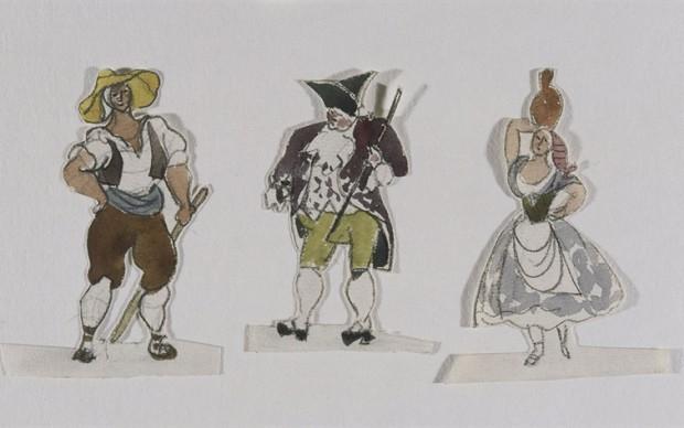 Pablo Picasso, Projets de costumes pour le ballet Tricorne, 1919 (c) Succession Picasso 2017 (c) RMN-Grand Palais, Musee Picasso, Paris