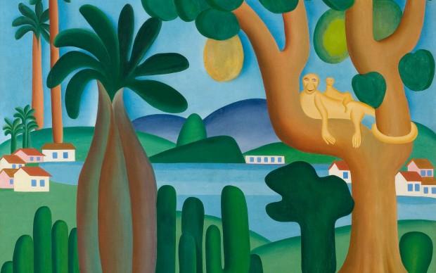 Tarsila do Amaral. Postcard (Cartão-postal), 1929. Oil on canvas. 50 3/16 x 56 1/8 in. (127.5 x 142.5 cm). Private collection, Rio de Janeiro. © Tarsila do Amaral Licenciamentos