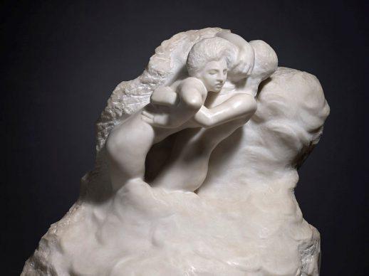 Auguste Rodin, Paolo e Francesca tra le nuvole, 1904-1905