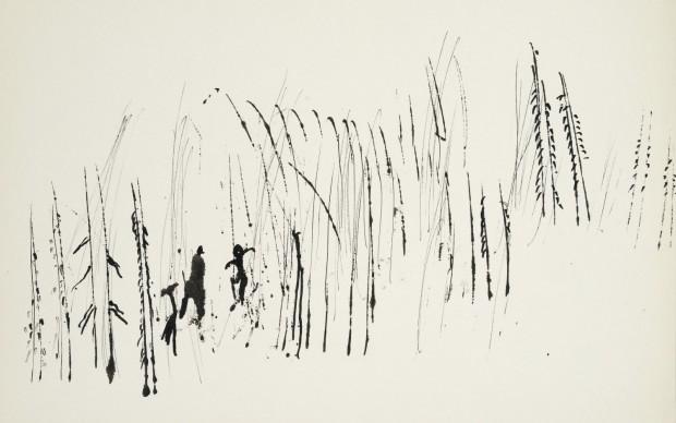 Henri Michaux Untitled, 1944 India ink on paper 240 x 320 mm Private collection © Archives Henri Michaux, VEGAP, Bilbao, 2018 Photo: Jean-Louis Losi