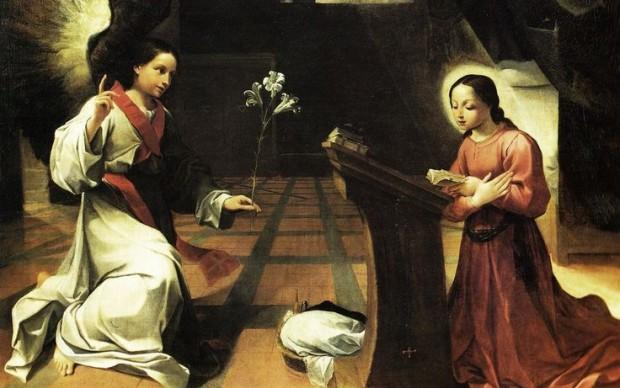 Ludovico Carracci, Annunciazione, olio su tela, cm 210×230, 1585, Pinacoteca Nazionale, Bologna.