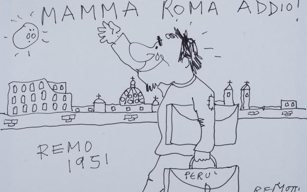 Remo Remotti, Mamma Roma, Addio