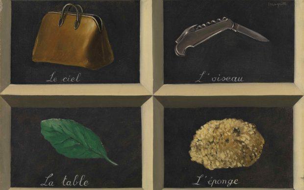 René Magritte, La Clef des Songes, 1927, oil on canvas ,15 x 21⅝ in. (38 x 55 cm.) Bpk / Bayerische Staatsgemäldesammlungen. © ADAGP, Paris and DACS, London 2018