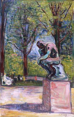 Edvard Munch, Il Pensatore di Rodin nel parco del dottor Linde a Lubecca, 1907. Parigi, Musée Rodin, inv. n. P.7612 © Musée Rodin, foto Jean de Calan