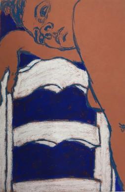 George Segal, Jeune femme à la chaise,1964, Kunsthaus Zürich, Grafische Sammlung, photo Kunsthaus Zürich © The George and Helen Segal Foundation/2018, ProLitteris, Zurich