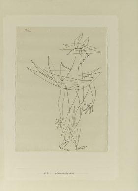 Paul Klee, Geht kaum mehr, Fliegt noch nicht, 1927. Harvard Art Museums / Busch-Reisinger Museum, Cambridge © Imaging Department / President and Fellows of Harvard College