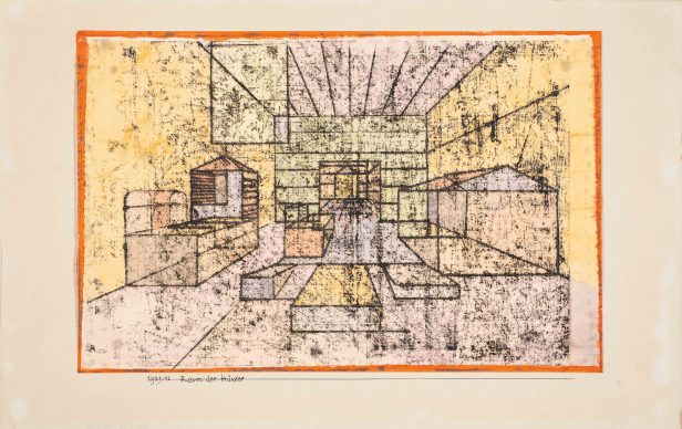 Paul Klee, Raum der Häuser, 1921. Privatsammlung, Schweiz, courtesy Galerie Kornfeld, Bern © Galerie Kornfeld, Bern