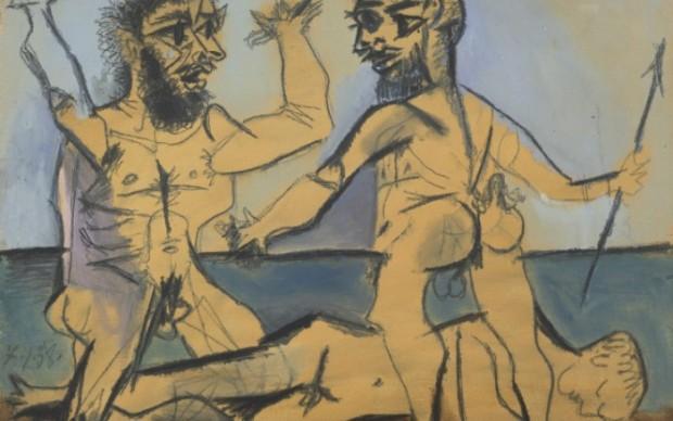 Pablo Picasso, Scena mitologica in riva al mare, 1938