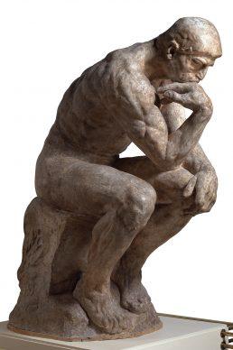 Auguste Rodin, Il pensatore, statua monumentale, 1880 circa. Parigi, Musée Rodin. © Musée Rodin, foto Jean de Calan