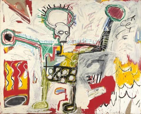 Jean-Michel Basquiat, Untitled, 1982. Museum Boijmans Van Beuningen, Rotterdam © VG Bild-Kunst Bonn, 2018 & The Estate of Jean-Michel Basquiat, Licensed by Artestar, New York, Courtesy Museum Boijmans Van Beuningen, Rotterdam, Foto: Studio Tromp, Rotterdam