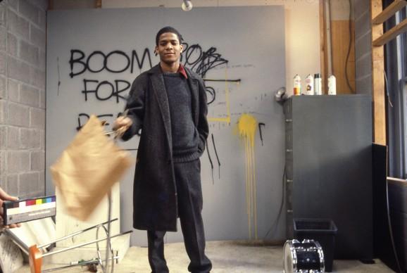 Edo Bertoglio, Jean-Michel Basquiat on the set of Downtown 81, 1980–81 © New York Beat Film LLC, By permission of The Estate of Jean-Michel Basquiat, Licensed by Artestar, New York