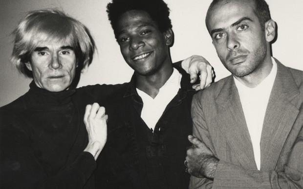 Beth Phillips, Andy Warhol, Jean-Michel Basquiat and Francesco Clemente, 1984, © Beth Phillips, courtesy Galerie Bruno Bischofberger, Switzerland